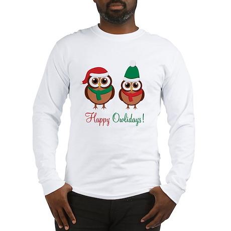"""Happy Owlidays"" Long Sleeve T-Shirt"