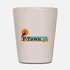Provincetown MA - Beach Design. Shot Glass