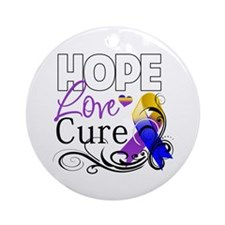 Hope Cure Bladder Cancer Ornament (Round)