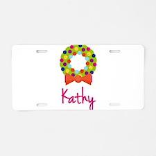 Christmas Wreath Kathy Aluminum License Plate
