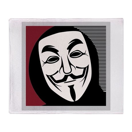 Occupy Mask Throw Blanket
