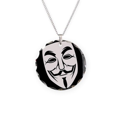 Occupy Mask Necklace Circle Charm