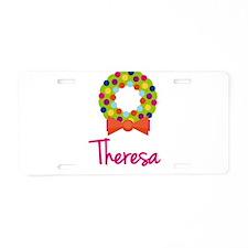 Christmas Wreath Theresa Aluminum License Plate