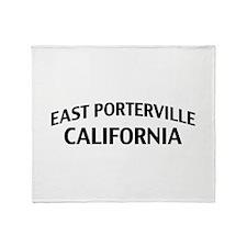 East Porterville California Throw Blanket
