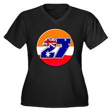 cs27repcircle Women's Plus Size V-Neck Dark T-Shir