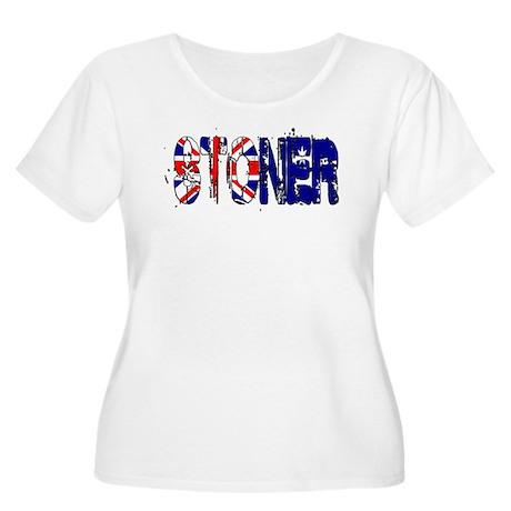 cswarrior Women's Plus Size Scoop Neck T-Shirt