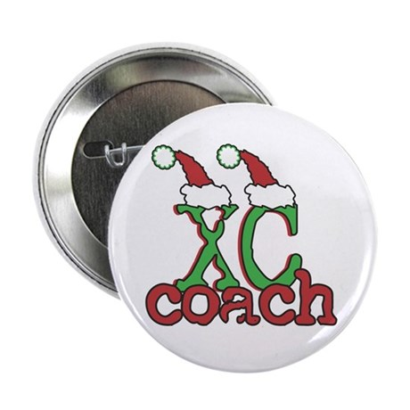 """XC Holiday Cross Country Coach 2.25"""" Button"""