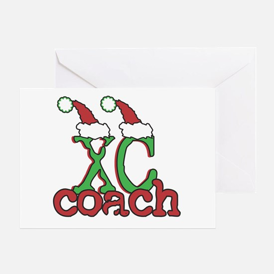 XC Holiday Cross Country Coach Greeting Card