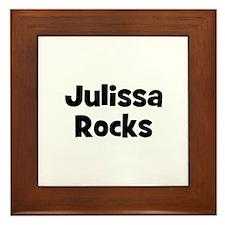 Julissa Rocks Framed Tile