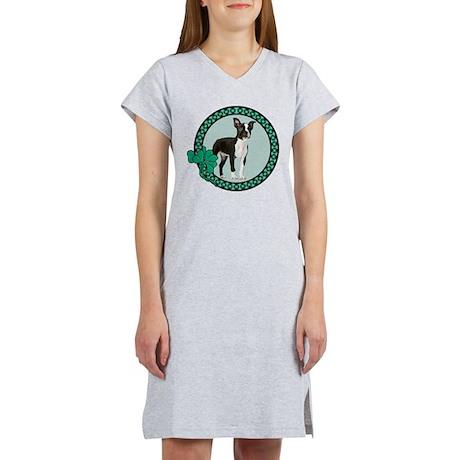 Irish Boston Terrier Women's Nightshirt