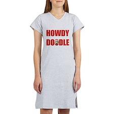 Howdy Goldendoodle Women's Nightshirt