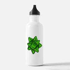 Dark Green Bow Water Bottle