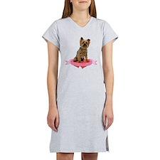 Silky Terrier Valentine Women's Nightshirt