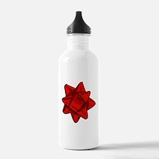 Dark Red Bow Water Bottle