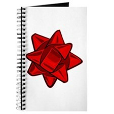 Dark Red Bow Journal