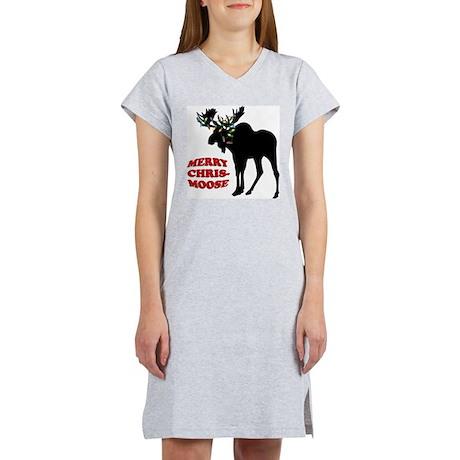 Merry Chrismoose Women's Nightshirt