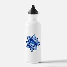 Dark Blue Bow Water Bottle