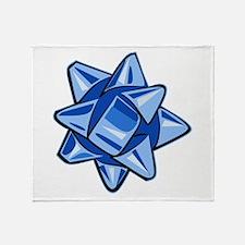 Dark Blue Bow Throw Blanket