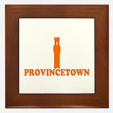 Provincetown MA - Lighthouse Design. Framed Tile