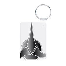 Klingon Symbol Aluminum Photo Keychain