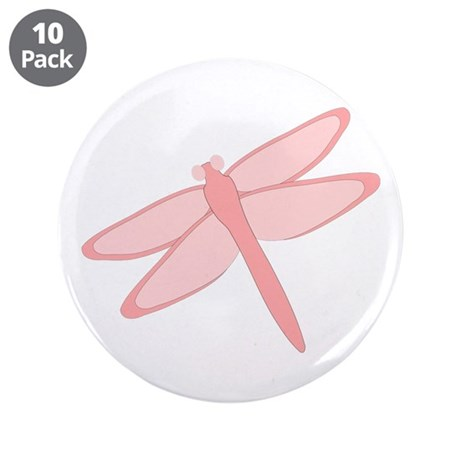 """Pink Dragonfly Design 3.5"""" Button (10 pack)"""