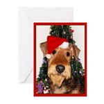 Airedale Terrier Christm Greeting Cards (Pk of 10)