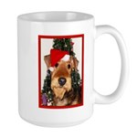 Airedale Terrier Christmas Large Mug