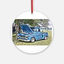 Blue Truck Ornament (Round)