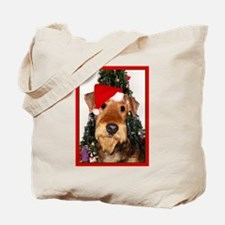 Airedale Terrier Christmas Tote Bag