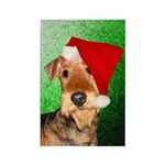 Airedale Terrier Christmas Rectangle Magnet