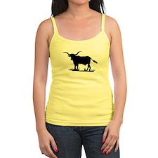 Texas Longhorn Silhouette Ladies Top