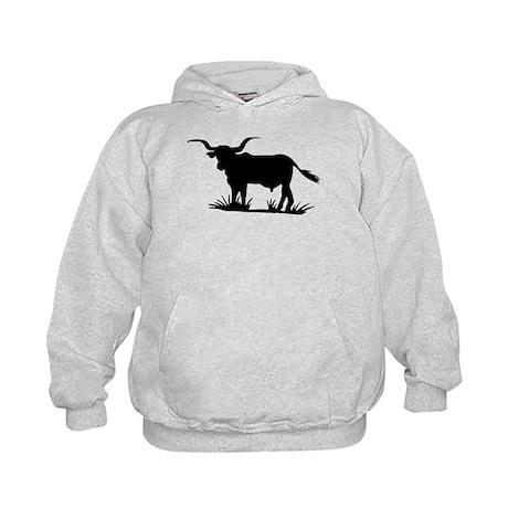 Texas Longhorn Silhouette Kids Hoodie