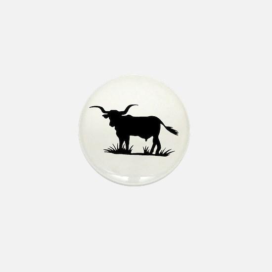 Texas Longhorn Silhouette Mini Button