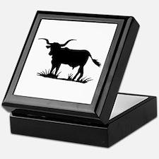 Texas Longhorn Silhouette Keepsake Box