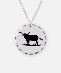Texas Longhorn Silhouette Necklace