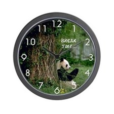Giant Panda :: Break Time Wall Clock