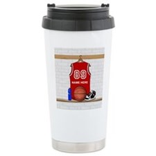 Personalized Basketball Jerse Travel Mug