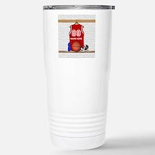Personalized Basketball Jerse Travel Mug