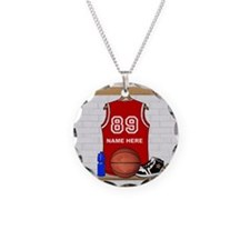 Personalized Basketball Jerse Necklace