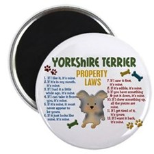 Yorkshire Terrier Property Laws 4 Magnet
