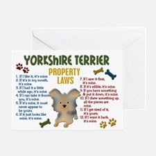 Yorkshire Terrier Property Laws 4 Greeting Card