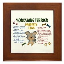 Yorkshire Terrier Property Laws 4 Framed Tile