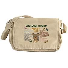 Yorkshire Terrier Property Laws 4 Messenger Bag