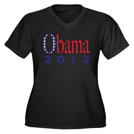 Election Women's Plus Size V-Neck Dark T-Shirt