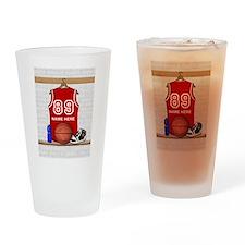 Personalized Basketball Jerse Drinking Glass