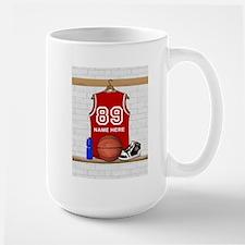 Personalized Basketball Jerse Large Mug