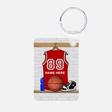 Personalized Basketball Jerse Keychains
