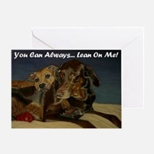 Two Dogs Cuddling! Greeting Card