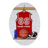Basketball Oval Ornaments