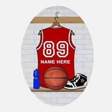 Personalized Basketball Jerse Ornament (Oval)